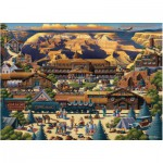 Master-Pieces-45118 Puzzle en Valisette - Grand Canyon