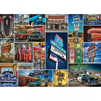 Master-Pieces-71772 Puzzle en Valisette - Route 66