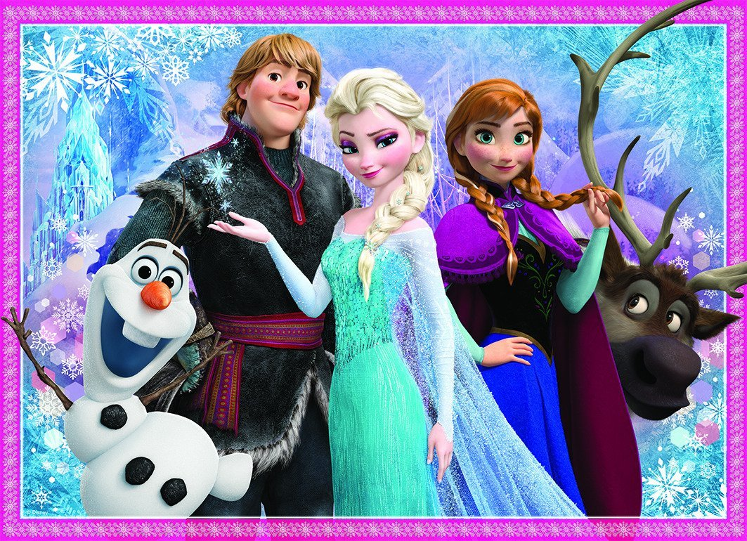 puzzle la reine des neiges olaf et ses amis nathan 86727 100 pi ces puzzles autres disney. Black Bedroom Furniture Sets. Home Design Ideas
