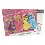 Nathan-86205 4 Puzzles - Disney Princess