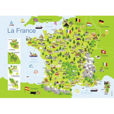 Puzzle Nathan-86732 Carte de France