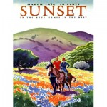 Puzzle   Pièces XXL - Sunset - Horses in The Hills