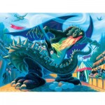 Puzzle  New-York-Puzzle-HP1371 Pièces XXL - Hungarian Horntail