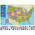 Puzzle  New-York-Puzzle-NG1710 Pièces XXL - The USA and Its Flags