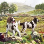 Puzzle  Otter-House-Puzzle-74132 Spaniels On The Moor