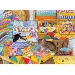 Puzzle  Cobble-Hill-51792 Chatons Rusés