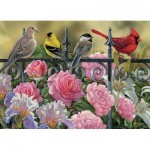Puzzle  Cobble-Hill-51817-80114 Rosemary Millette - Birds on a Fence