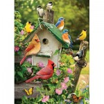 Puzzle  Cobble-Hill-51832 Summer Birdhouse