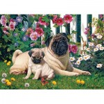 Puzzle  Cobble-Hill-51839 Pug Family