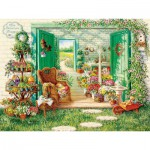 Puzzle  Cobble-Hill-52088 Pièces XXL - The Blossom Shoppe