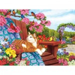 Puzzle  Cobble-Hill-54342 Pièces XXL - Nancy Wernersbach - Spring Fling
