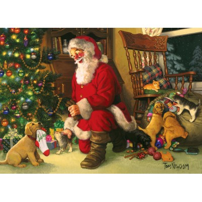 Puzzle Cobble-Hill-54611 Pièces XXL - Santa's Lucky Stocking