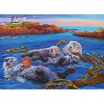 Puzzle  Cobble-Hill-54619 Pièces XXL - Sea Otter Family