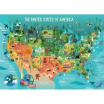 Puzzle  Cobble-Hill-54622 Pièces XXL - The United States of America