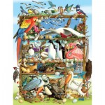 Puzzle  Cobble-Hill-54639 Pièces XXL - Birds of the World
