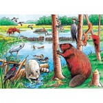 Cobble-Hill-58802 Puzzle Cadre - Beaver Pond Tray Puzzle