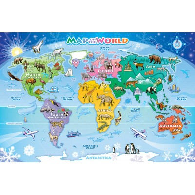 Puzzle Cobble-Hill-58893 Map of the World
