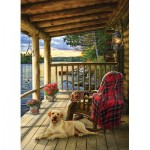 Puzzle  Cobble-Hill-80005 Cabin Porch