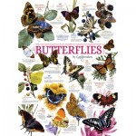 Puzzle  Cobble-Hill-80015 Butterfly Collection