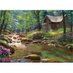 Puzzle  Cobble-Hill-80313 Fishing Cabin