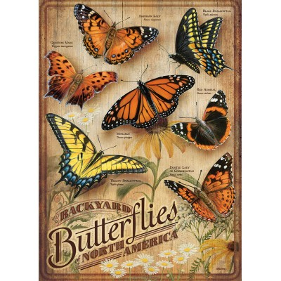 Puzzle Cobble-Hill-85006 Pièces XXL - Backyard Butterflies