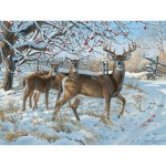 Puzzle  Cobble-Hill-85030 Pièces XXL - Persis Clayton Weirs - Winter Deer