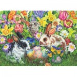 Puzzle  Cobble-Hill-85047 Pièces XXL - Easter Bunnies