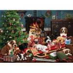 Puzzle  Cobble-Hill-85055 Pièces XXL - Christmas Puppies