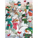 Puzzle  Cobble-Hill-85081 Pièces XXL - Hill of a Lot of Snowmen