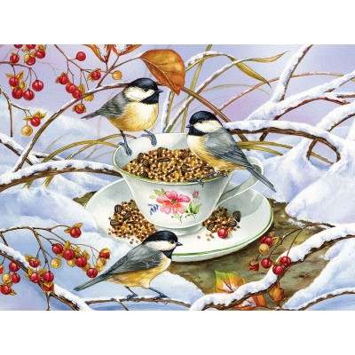 Puzzle Cobble-Hill-88001 Pièces XXL - Chickadee Tea