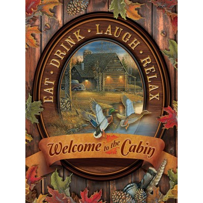 Puzzle Cobble-Hill-88005 Pièces XXL - Welcome to the Cabin