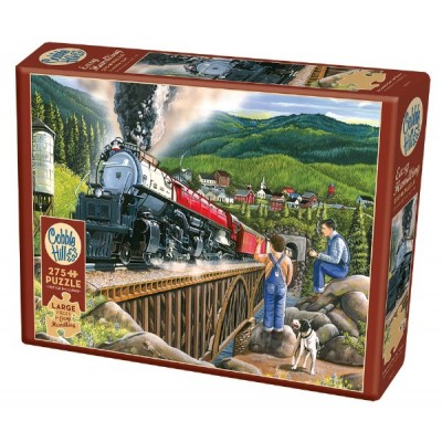 Puzzle Cobble-Hill-88009 Pièces XXL - Steaming Out of Town