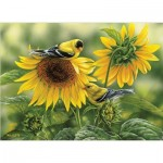 Puzzle   Sunflowers and Goldfinches