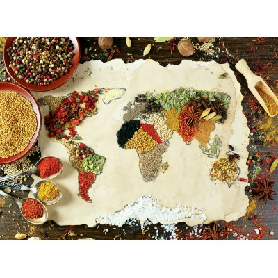 Puzzle Perre-Anatolian-1045 Herbal World Map