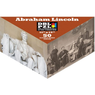 Pigment-and-Hue-DBLLINC-00803 Puzzle Double Face - Abraham Lincoln