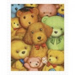 Pintoo-H1124 Puzzle en Plastique - Smart - Poodle and Teddy Bears
