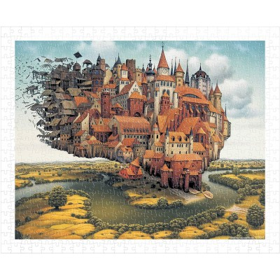 Pintoo-H1645 Puzzle en Plastique - Jacek Yerka - City is Landing