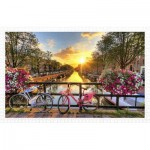 Pintoo-H1770 Puzzle en Plastique - Beautiful Sunrise Over Amsterdam