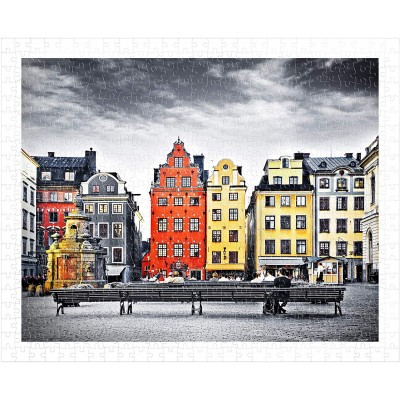 Pintoo-H1937 Puzzle en Plastique - The Old Town of Stockholm, Sweden