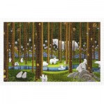 Pintoo-H2075 Puzzle en Plastique - SMART - Polar Bears in the Forest