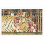 Pintoo-H2146 Puzzle en Plastique - Cotton Lion - Goodnight Tiger