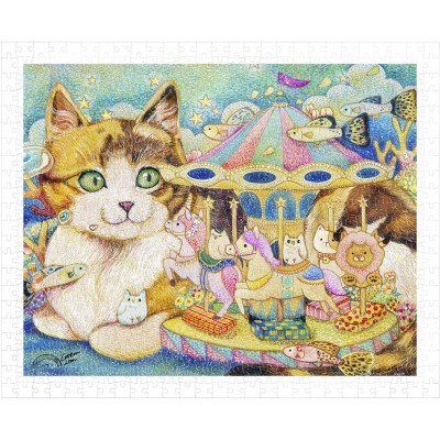 Pintoo-H2152 Puzzle en Plastique - Cotton Lion - Merry-Go-Round