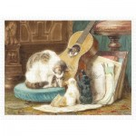 Puzzle  Pintoo-H2258 Henriette Ronner - The Harmonists