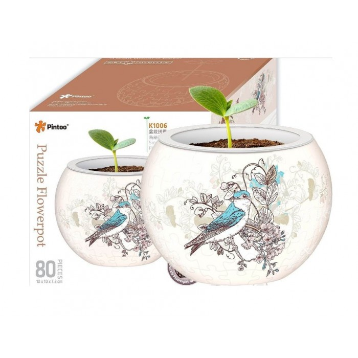 Puzzle 3D - Flower Pot - Singing Birds and Flowers