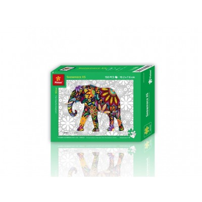 Pintoo-P1106 Puzzle en Plastique - The Cheerful Elephant