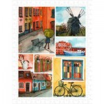 Puzzle en Plastique - Beautiful Collage of Tranquil Streets