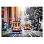 Puzzle en Plastique - Cable Cars on California Street, San Francisco