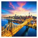 Puzzle en Plastique - Manhattan with Queensboro Bridge, New York