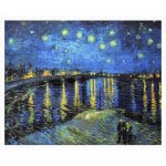 Puzzle en Plastique - Vincent Van Gogh - Starry Night Over The Rhone, 1888
