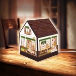 Pintoo-R1004 Puzzle 3D - House Lantern - Lovely Cafe Shop